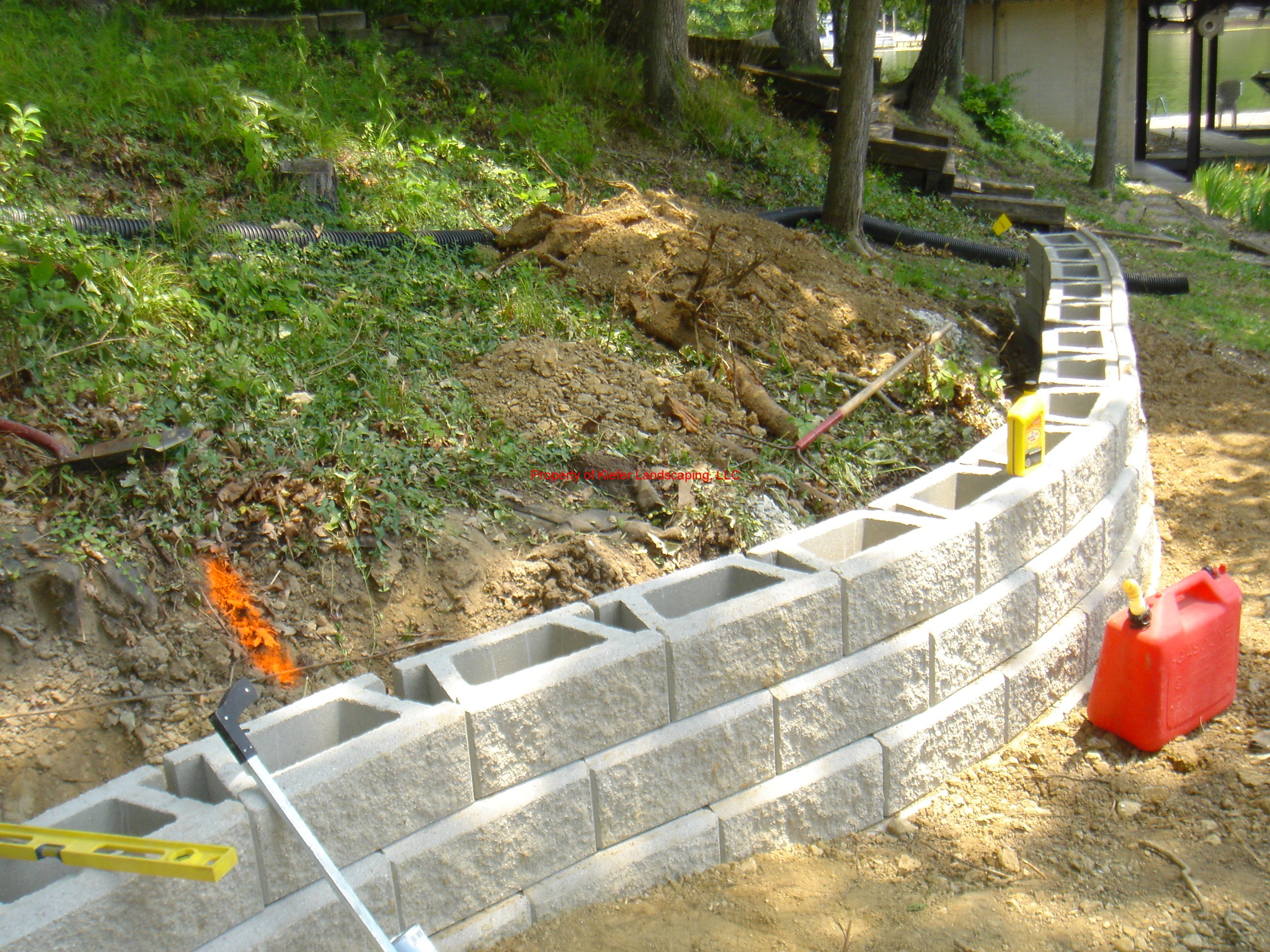 Retaining Wall and Landscaping  Lances Landscaping